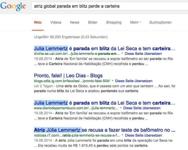 google descobre qual atriz global parada na blitz perde carteira
