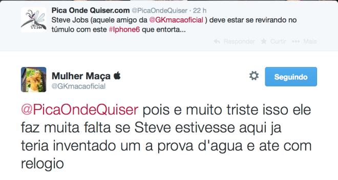mulher maçã, reponde blog pica onde quiser no twitter